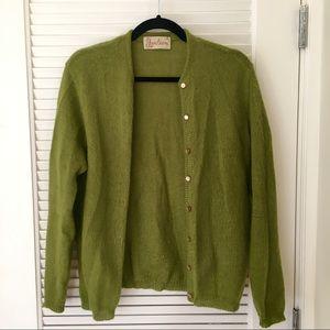 Jantzen Fuzzy Olive Green Vintage Cardigan